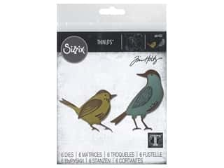 scrapbooking & paper crafts: Sizzix Dies Tim Holtz Thinlits Feathered Friends