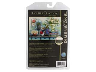 "yarn & needlework: Dimensions Cross Stitch Kit Gold Collection 7""x 5"" Garden Collectibles"