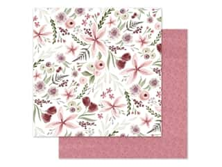 "Carta Bella Collection Flora #3 Paper 12""x 12"" Elegant Large Floral (25 pieces)"