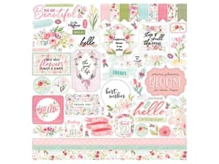 "Carta Bella Collection Flora #3 Sticker 12""x 12"" Elements (15 pieces)"