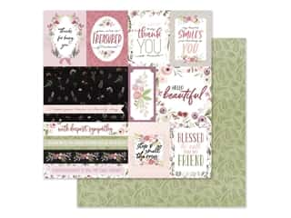 "Carta Bella Collection Flora #3 Paper 12""x 12"" Elegant Journaling Cards (25 pieces)"