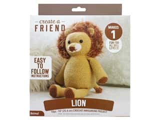 Leisure Arts Create A Friend Crochet Kit - Amigurumi Lion