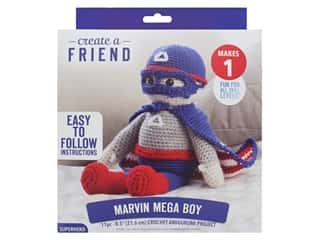 Leisure Arts Create A Friend Crochet Kit - Amigurumi Marvin Mega Boy