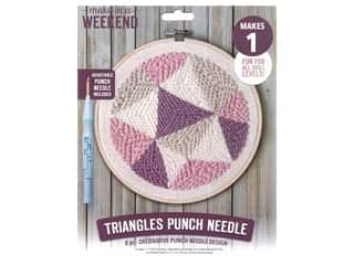Leisure Arts Make In A Weekend Punch Needle Kit - Triangles