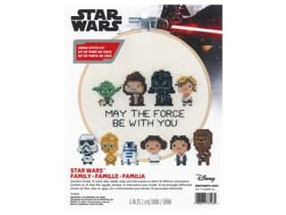 "Dimensions Cross Stitch Kit 6"" Star Wars Family"