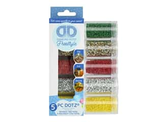 craft & hobbies: Diamond Dotz Freestyle Gems Sampler Pack 5 pc. Holiday 2