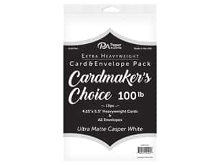 Paper Accents Cardmakers Choice 41/4 x 5 1/2 in. Blank Card & Envelopes 100 lb. Ultra Matte Casper White 15 pc.