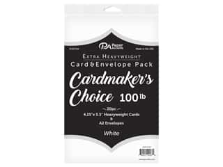Paper Accents Cardmakers Choice Blank Card & Envelopes - 4 1/4 x 5 1/2 in. - 100 lb. White 20 pc.