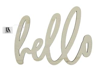 "craft & hobbies: Leisure Arts Wood Word Large 12""x 9"" Hello"