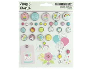 Simple Stories Magical Birthday Decorative Brads