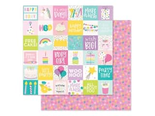 "Simple Stories Magical Birthday Paper 12""x 12"" Elements 2""x 2"" (25 pieces)"