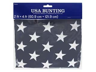 "novelties: Darice USA Flag Bunting 24""x 48"""
