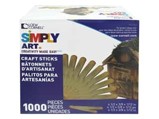 Loew Cornell Simply Art Wood Craft Sticks 1000 pc.