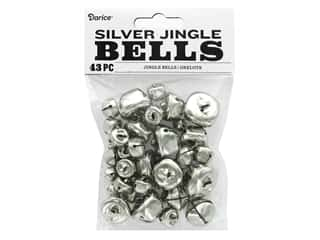Darice Jingle Bells Assorted Size Silver 43 pc.
