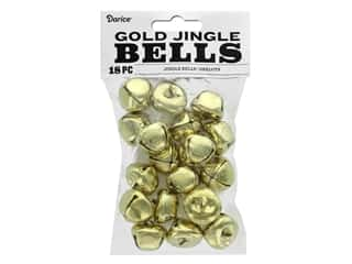 Darice Jingle Bells 1 in. Gold 18 pc.