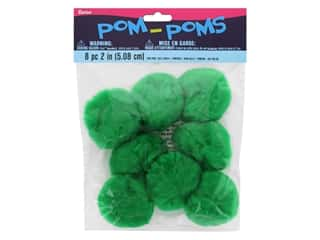 Darice Pom Poms 2 in. (50 mm) Kelly Green 8 pc.