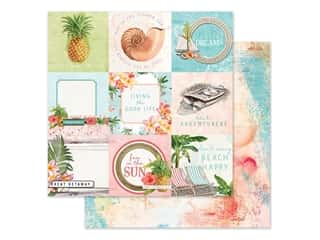 "Simple Stories Simple Vintage Coastal Paper 12""x 12"" Elements 4""x 4"" (25 pieces)"