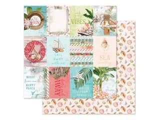 "scrapbooking & paper crafts: Simple Stories Simple Vintage Coastal Paper 12""x 12"" Elements 3""x 4"" (25 pieces)"