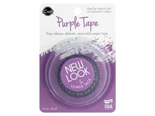 "glues, adhesives & tapes: iCraft Tape Removable 1.5""x 15yd Purple"