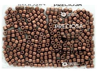 John Bead Czech Rola Bead 6.2mm Opaque Metallic Copper