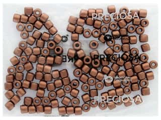 John Bead Czech Rola Bead 7.7mm Opaque Metallic Copper