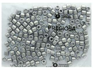 John Bead Czech Rola Bead 7.7mm Opaque Metallic Silver