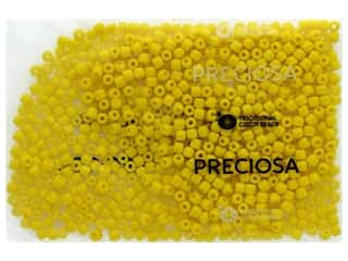 beading & jewelry making supplies: John Bead Czech Rola Bead 4.5mm Opaque Yellow