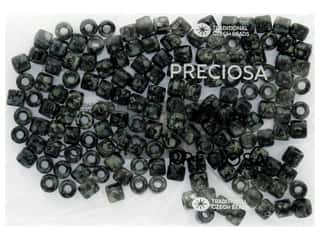 craft & hobbies: John Bead Czech Rola Bead 7.7mm Opaque Travertine On Black