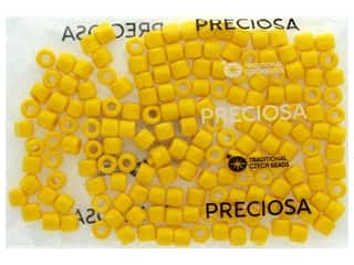 beading & jewelry making supplies: John Bead Czech Rola Bead 7.7mm Opaque Yellow