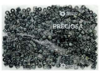 craft & hobbies: John Bead Czech Rola Bead 6.2mm Opaque Travertine On Black