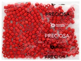 John Bead Czech Rola Bead 6.2 mm Opaque Red
