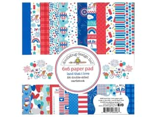 scrapbooking & paper crafts: Doodlebug Land That I Love Paper Pad 6 in. x 6 in.