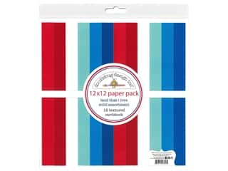 scrapbooking & paper crafts: Doodlebug Land That I Love Paper Pack 12 in. x 12 in. Solid