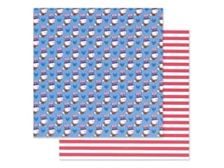 Doodlebug Land That I Love Paper 12 in. x 12 in. Uncle Sam (25 sheets)