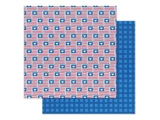 Doodlebug Land That I Love Paper 12 in. x 12 in. Red White & Blue (25 sheets)