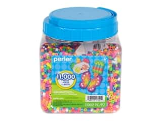 beading & jewelry making supplies: Perler Fused Bead Jar Summer Mix 11,000pc