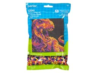 Perler Fused Bead Kit Pattern Bag Dinosaur