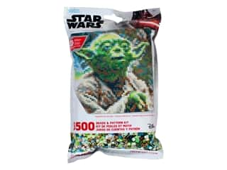 beading & jewelry making supplies: Perler Fused Bead & Pattern Kit Star Wars Yoda