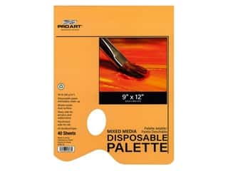 "Pro Art Palette Disposable Mixed Media Pad 9""x 12"" 40pc"