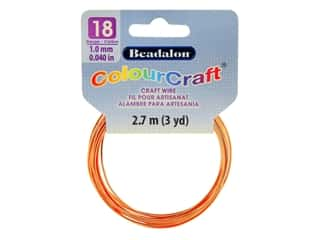 craft & hobbies: Beadalon ColourCraft Tarnish Resistant Copper Wire 18ga Copper 3yd