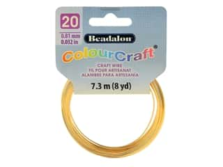 Beadalon ColourCraft Tarnish Resistant Copper Wire 20ga Gold 8yd