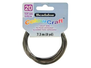 Beadalon ColourCraft Tarnish Resistant Copper Wire 20ga Graphite 8yd