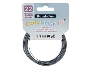 Beadalon ColourCraft Tarnish Resistant Copper Wire 22ga Grey Silver Plated 10yd