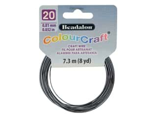 craft & hobbies: Beadalon ColourCraft Tarnish Resistant Copper Wire 20ga Grey Silver Plated 8yd