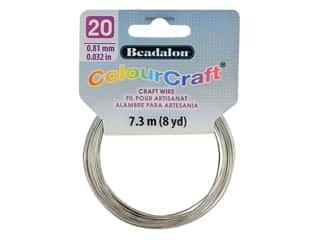 Beadalon ColourCraft Tarnish Resistant Copper Wire 20ga Silver 8yd