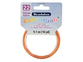 Beadalon ColourCraft Tarnish Resistant Copper Wire 22ga Copper 10yd