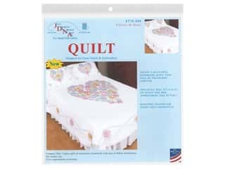 Jack Dempsey Quilt Full/Queen 2 Piece Flowers & Hearts