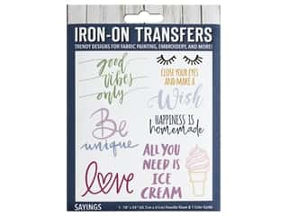 Leisure Arts Iron-On Transfers - Sayings