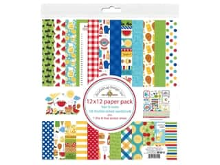 "Doodlebug Collection Bar-B Cute Paper Pack 12""x 12"""