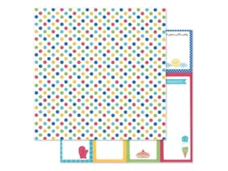 "Doodlebug Collection Bar-B Cute Paper 12""x 12"" Picnic Spot (25 pieces)"